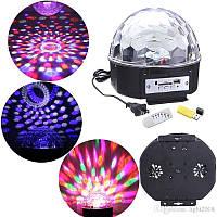 Музыкальный диско-шар Led Music Ball SD-5150 Bluetooth, USB, 30 Вт, шесть цветов, диско шар, светомузыка