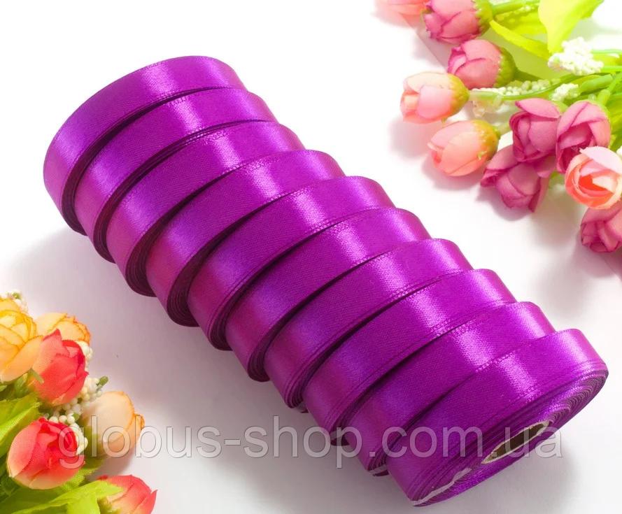 Атлас 1,2 см фиолетовый, 23 м