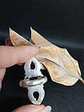 Гранат кольцо с камнем гранат в серебре. Кольцо с гранатом. Размер 18 Индия, фото 7