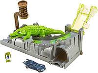 Трек Хот Вилс Город Крокодил канализационный выход Hot Wheels Killer Croc Sewer escape