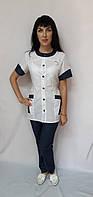 Жіночий медичний костюм Фантазія бавовна короткий рукав 44 розмір