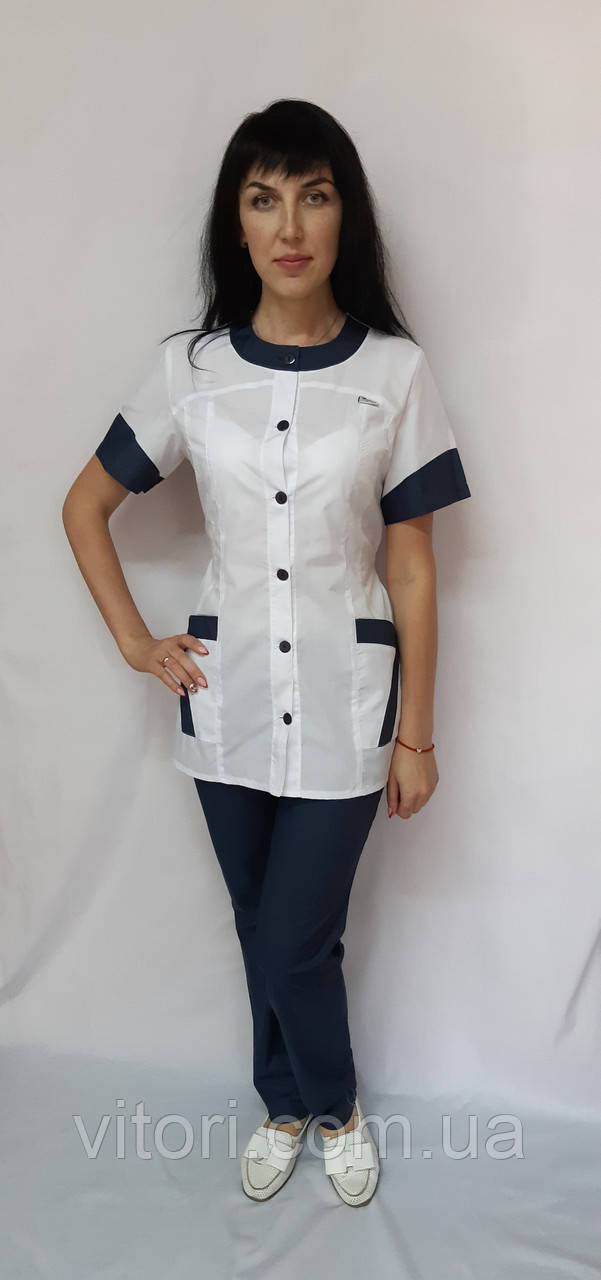 Женский медицинский костюм Фантазия хлопок короткий рукав 44 размер