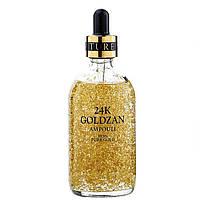 Ампула с 24 каратным золотом с гиалуроновой кислотой, 30мл, сыворотка, маски для лица, корейская косметика