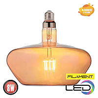 Светодиодная филаментная лампа GINZA 8W 2200К AMBER HOROZ