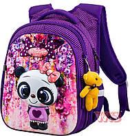 Рюкзаки для девочек Winner Stile 29*19*38 (фиолетовый с розовым)