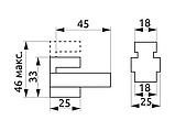 Полкотримач для скляних полиць GIFF Quadro mini сатин, фото 3