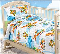 Комплект постельного белья  для малышей в кроватку От винта (бязь), фото 1