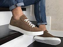 Кожаные кроссовки Puma  (реплика),коричневые, фото 2