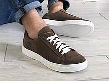Кожаные кроссовки Puma  (реплика),коричневые, фото 3