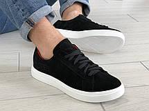 Кожаные кроссовки Puma  (реплика),черные, фото 2