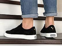 Кожаные кроссовки Puma  (реплика),черные, фото 3