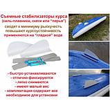 Съемные курсовые стабилизаторы (плавники) для надувной байдарки, фото 3