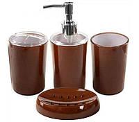 Набор аксессуаров для ванной «Глянец» 4 предмета 22х22х7.5 см (керамика) Stenson
