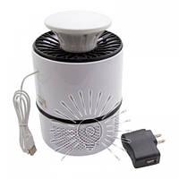 Світильник Led світлодіодний від комарів 5W 110-240V USB+адаптер LM3401 білий, фото 1