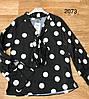 Женская блузка с бантом на горловине 42-48 (в расцветках), фото 2