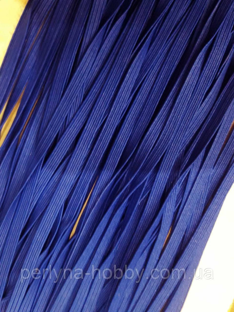 Резинка Гумка білизняна  синя 5мм.Тайланд. Ціна за метр