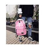 Рюкзак большой BE YOUR STYLE мужской женский чоловічий жіночий школьный портфель розовый, фото 4