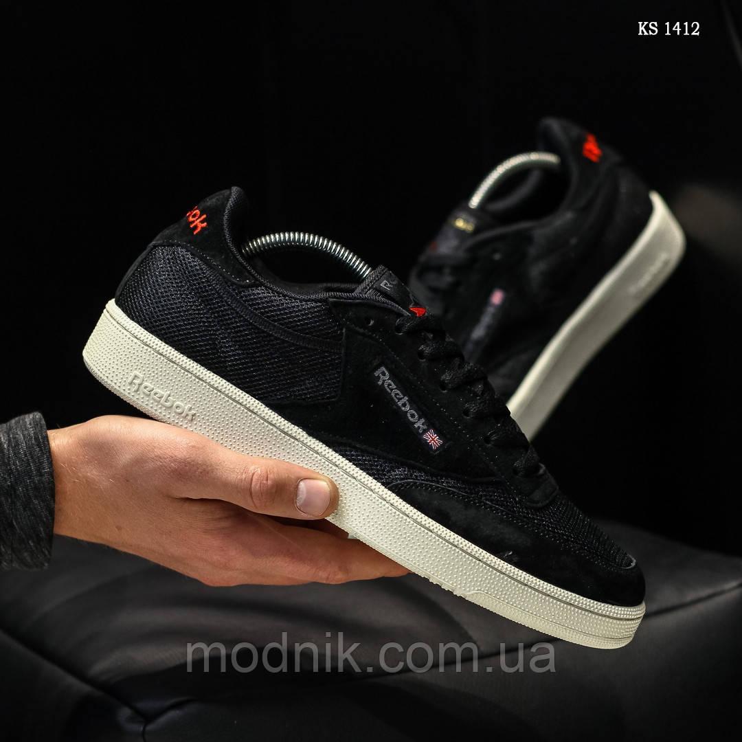 Мужские кроссовки Reebok Classic (черные) KS 1412