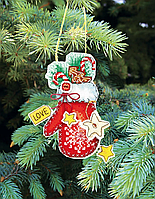 """Набор для вышивания крестом """"Новогодние игрушки"""" Т-03"""