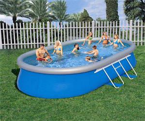 Овальный бассейн Intex Ellipse Frame Pools 57986 610 см х 366 см х 122 см