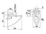 Полкотримач для скляних полиць GIFF Пелікан сатин, фото 4