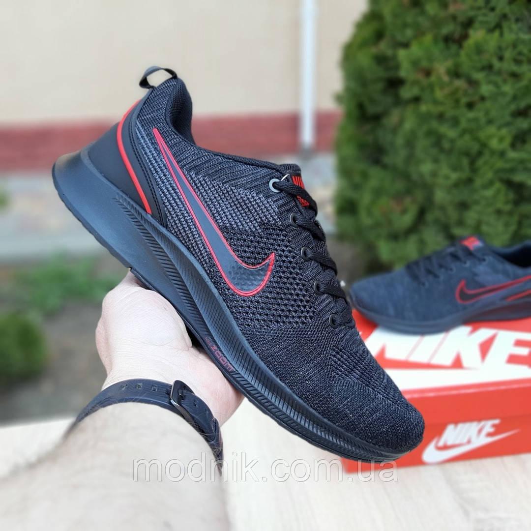 Мужские кроссовки Nike ZOOM Air (черно-оранжевые) 10082