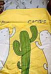 Комплект полуторного постельного белья с кактусами, фото 3