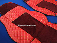 Чехлы экокожа на сидения DAF XF 106 АКП красные