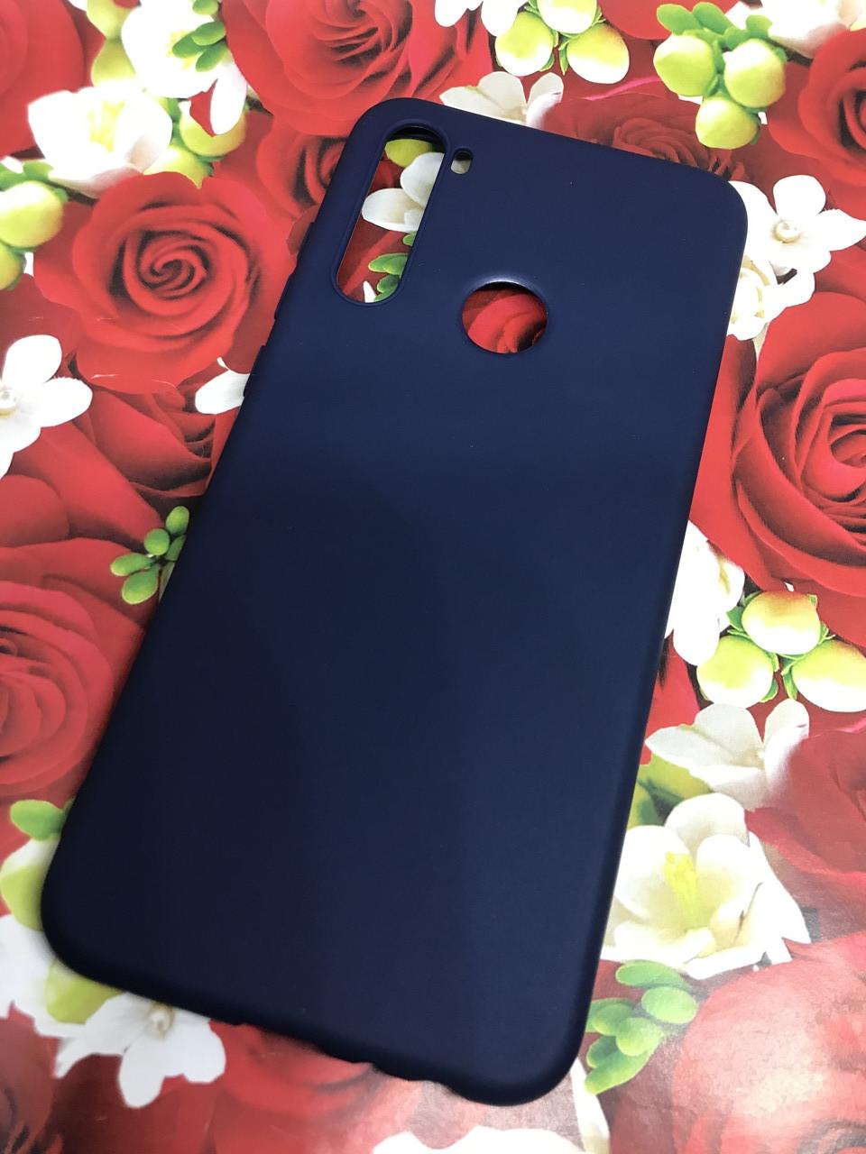 Xiaomi Redmi Note 8T чехол/ бампер/ накладка синий матовый цветной ультратонкий силиконовый
