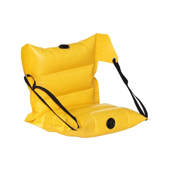 Кресло надувное байдарочное усиленное ЛКБ-850 желтое
