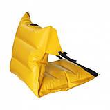 Кресло надувное байдарочное усиленное ЛКБ-850 желтое, фото 2