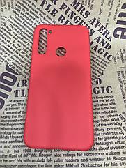 Xiaomi Redmi Note 8T чехол/ бампер/ накладка красный матовый цветной ультратонкий силиконовый