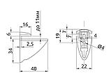 Полкотримач для скляних полок GIFF Пеликан хром, фото 5