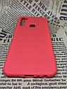Xiaomi Redmi Note 8T чехол/ бампер/ накладка красный матовый цветной ультратонкий силиконовый, фото 3