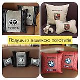 Сувенирные подушки с логотипом, госномером, подушки-подголовники, автосувениры, фото 4