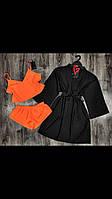 Молодежный комплект домашней одежды халат и пижама( топ+шорты).