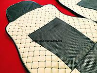 Чехлы на сидения эко-кожа DAF XF 106 МКП бежевые