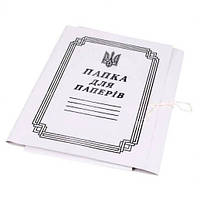 Папка на завязках А4, картон