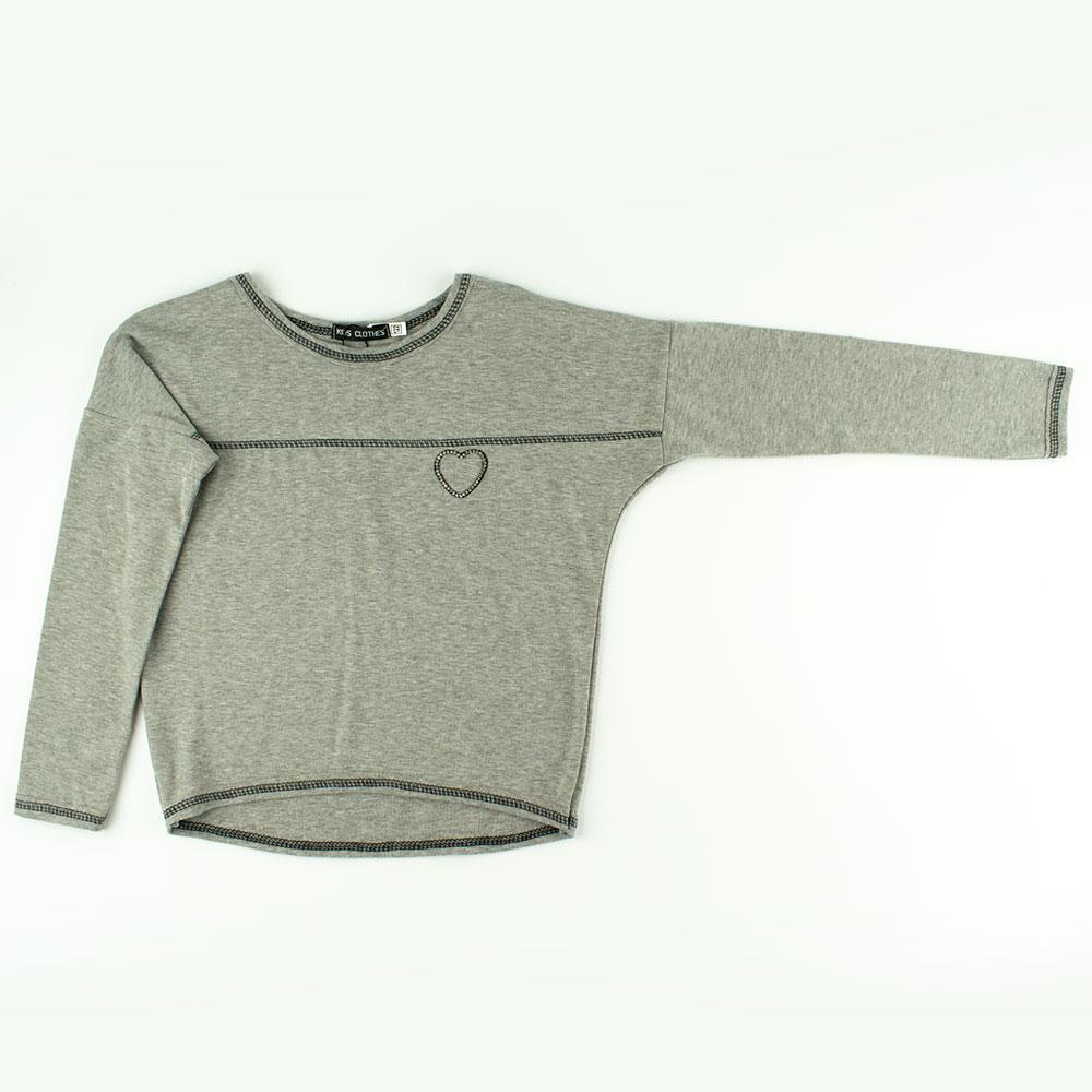 Блуза для девочек Kidsmod 122  серый 980346