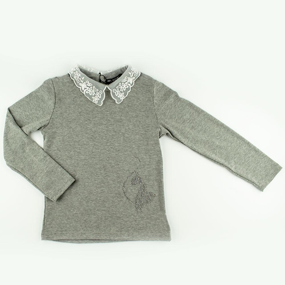 Блуза для девочек Kidsmod 128  серый 980347