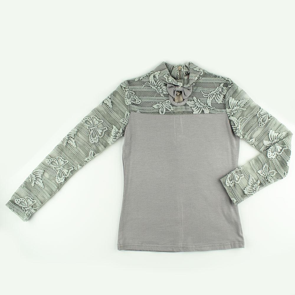 Блуза для девочек Colabear 130  серый 682714