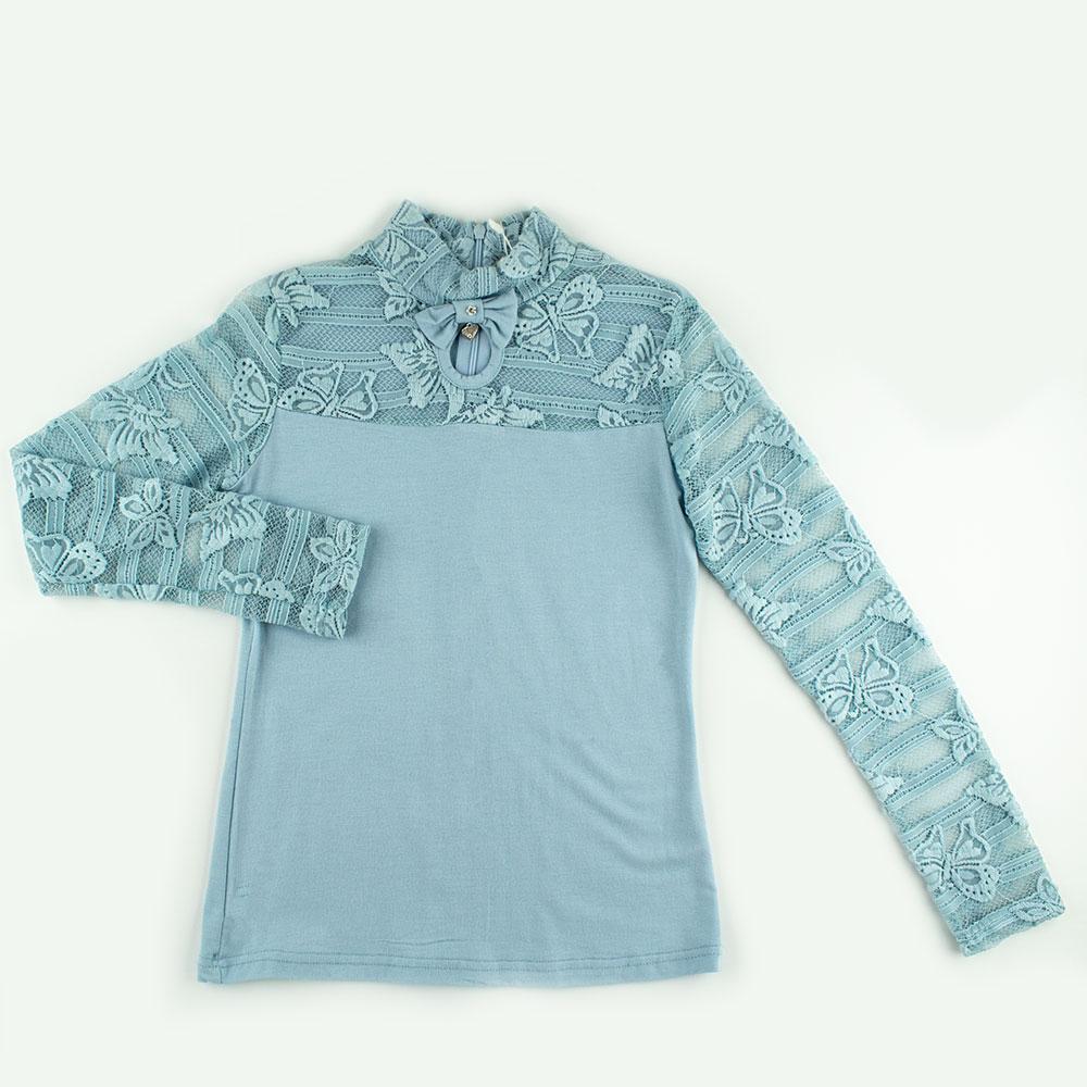 Блуза для девочек Colabear 130  голубой 682714