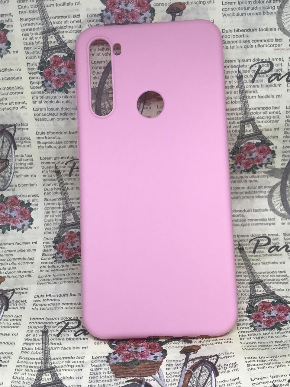 Xiaomi Redmi Note 8T чехол/ бампер/ накладка розовый матовый цветной ультратонкий силиконовый