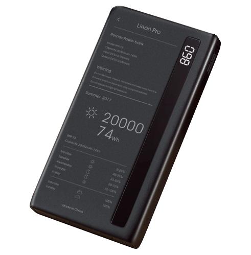 Power Bank Remax RPP-73 Linon 20000mah Black