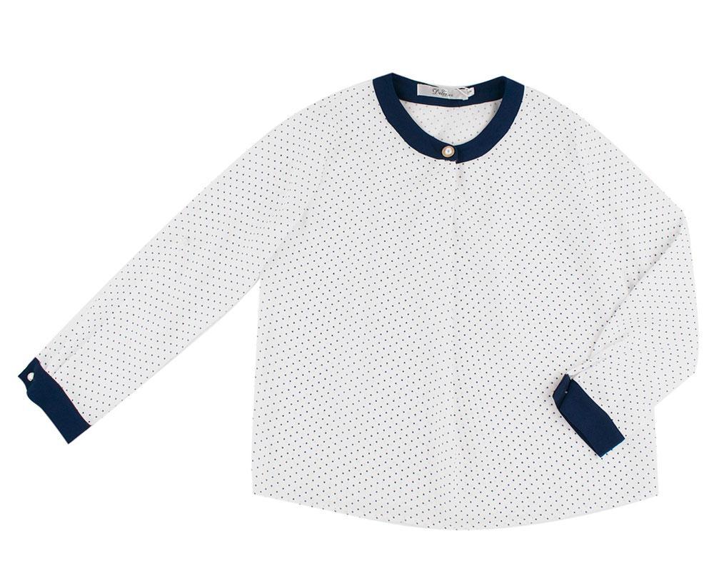 Блуза для девочек Deloras 134  белый, горох 62142F
