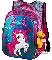 Рюкзаки для девочек Winner Stile 29*19*38 (серый, розовый, голубой)