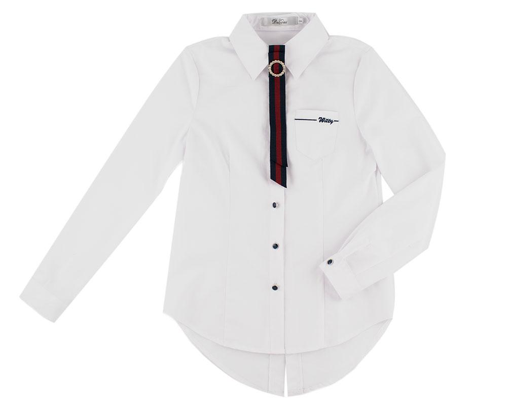 Блуза для девочек Deloras 134  белый 62047