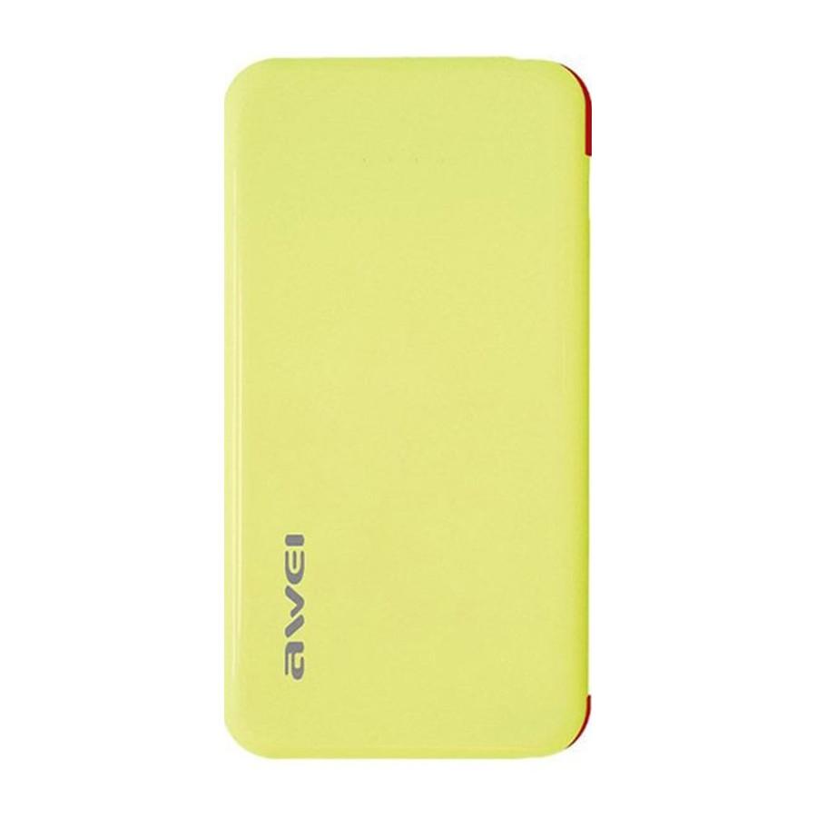 Внешний аккумулятор Power Bank Awei P10K 6000mAh Yellow