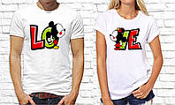 Парные футболки с принтом. Футболки с надписями, фото 1