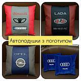 Автомобільні подушки з логотипом, держномером, подушки на підголовники, фото 3
